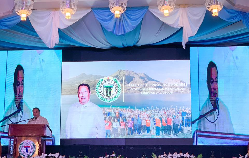 Provincial Governor, Hon. Jurdin Jesus M. Romualdo during the  State of the Province Address (SOPA)